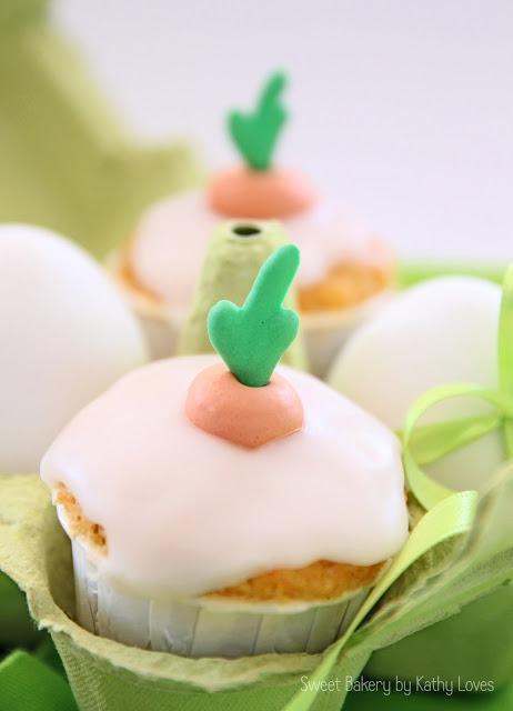 Möhren Karotten Cupcakes Ostern - by Kathy Loves