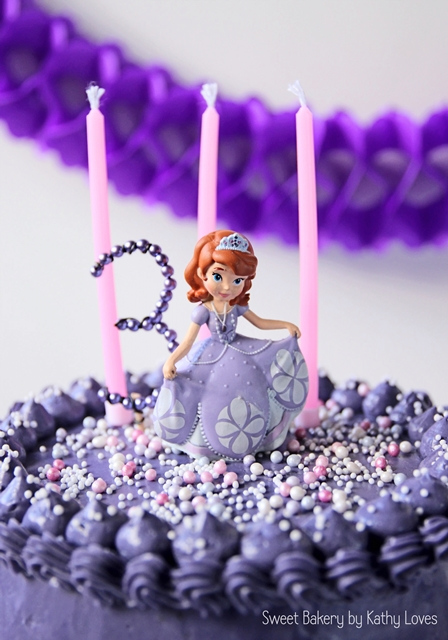 Sofia The First Birthday Easy Buttercream Birthday Cake by Kathy Loves