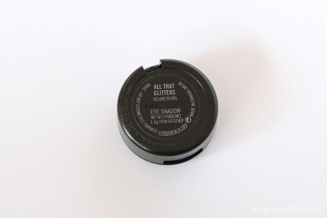 All That Glitters Eyeshadow MAC - by Kathy Loves
