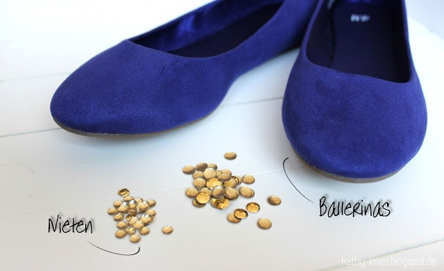 Studded Ballerinas DIY - by Kathy Loves