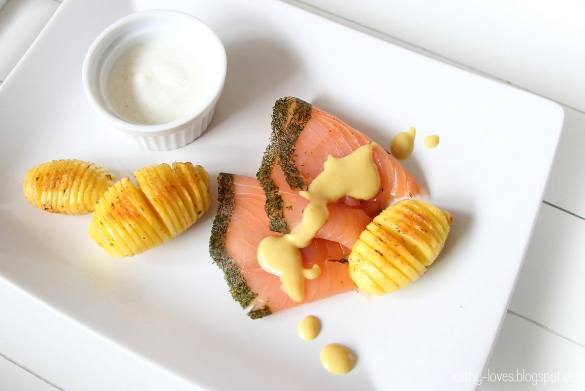 Graved Lachs mit Honig Senf Sauce - by Kathy Loves