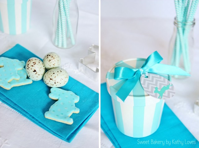 Vanille Kekse Blaue Ostern und Tiffany Verpackung DIY - Oster Special by Kathy Loves