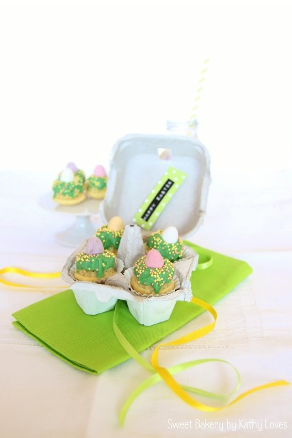 Mini Osternester Vanille-Mini-Gugl - Oster Special by Kathy Loves