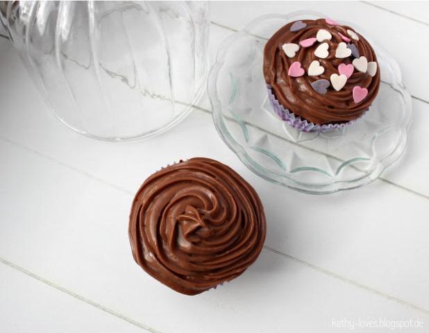 Schoko Muffins mit Belgischer Ganache Schokoladen Cupcakes - by Kathy Loves