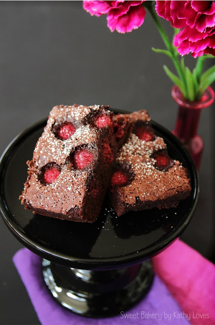 Brownies mit Himbeeren - by Kathy Loves