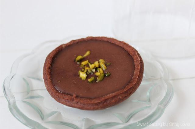 Schokoladen Tartelettes mit Orangen Ganache - by Kathy Loves