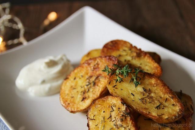 Thymian Kartoffeln mit Kräuterquark - by Kathy Loves