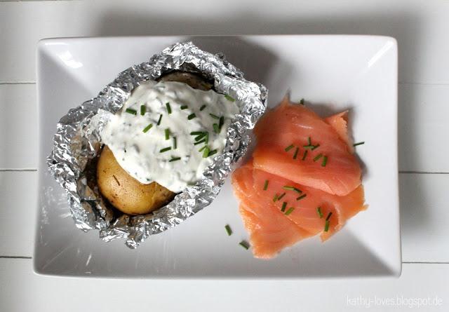Thymian-Ofenkartoffeln mit Kräuterquark - by Kathy Loves