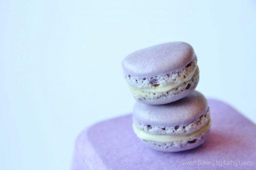 Violette Macarons mit weißer Scjokolade Ganache - by Kathy Loves