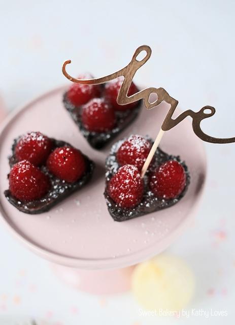 Oreo Himbeer Tartelettes mit Ganache - Love Valentinstag by Kathy Loves