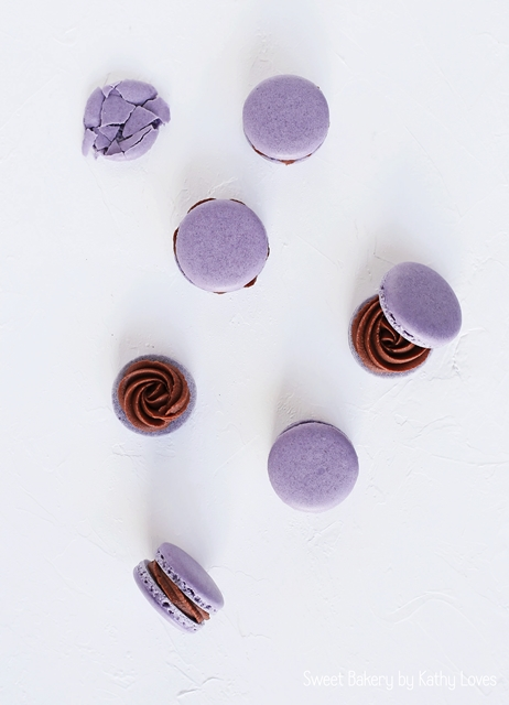 Milk Chocolate Macarons - Macaron Monday by Kathy Loves