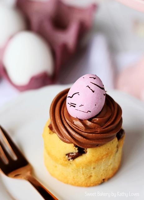Oster Cupcakes - Eierlikör Schokoladen Cupcakes mit Chocolate Chunk - Kathy Loves