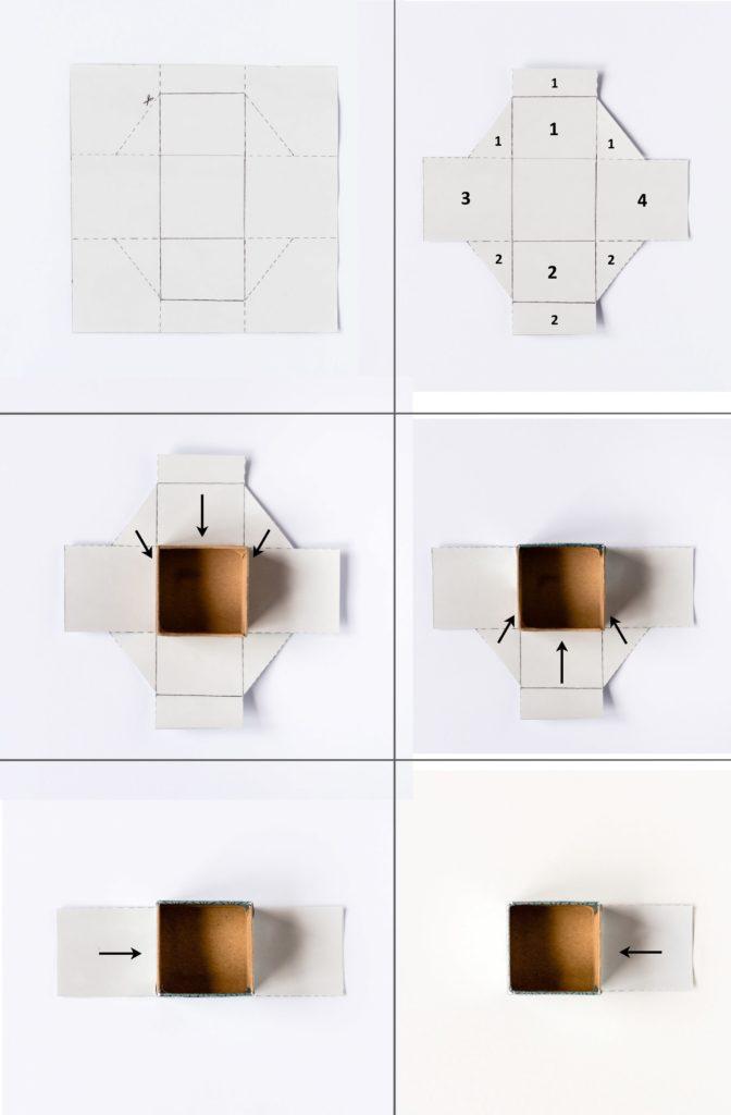 Adventskalender aus Pappschachteln DIY Türkis Anleitung