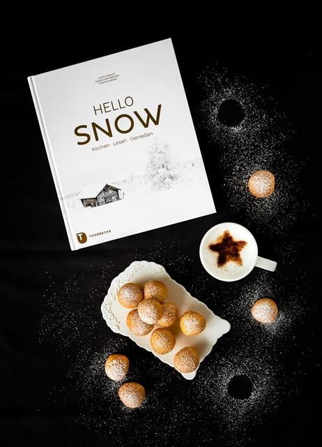 Hello Snow Buchrezension und Quarkkugeln