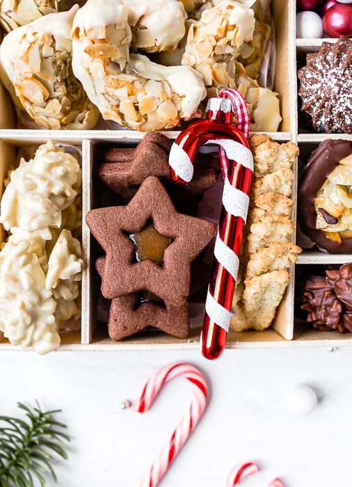 Cookie Box - Schoko Spitzbuben mit gesalzenem Karamell