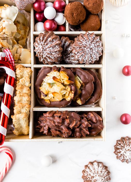Cookie Box - Florentiner Mandelsplitter Schoko Tuffs