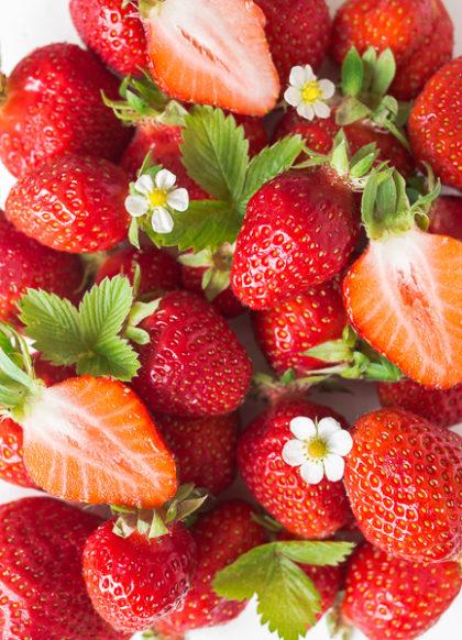 Erdbeeren Flatlay