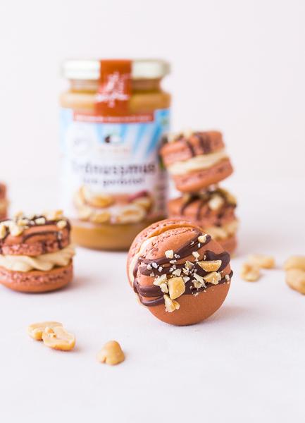 Erdnuss Macarons mit Erdnuss-Buttercreme
