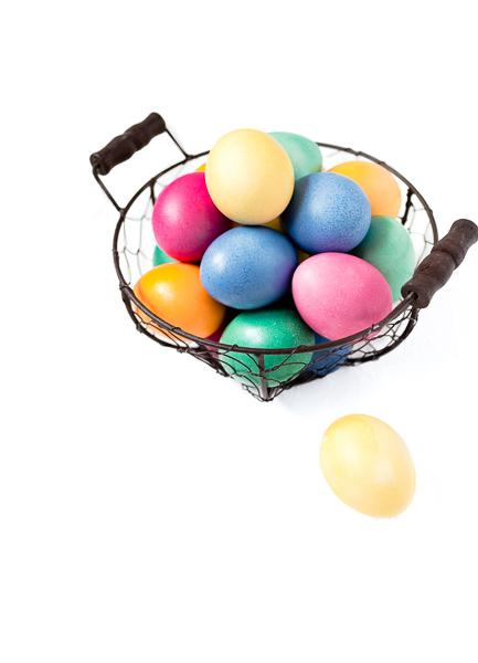 Ostereier färben mit Lebensmittelfarbe Bunt und Pastell