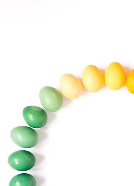 Ostereier färben mit Lebensmittelfarbe Farbkreis