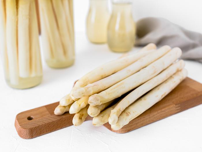 Spargel einkochen und haltbar machen - weißer Spargel auf Vorrat