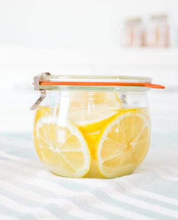 Zitronen einkochen einwecken für heiße Zitrone