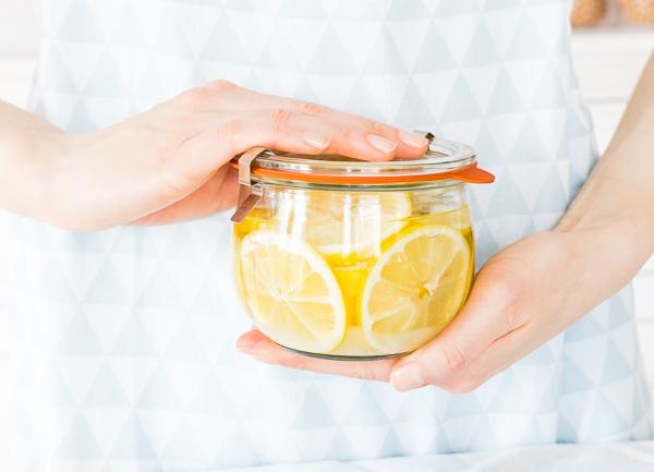 Zitronen einkochen für heiße Zitrone